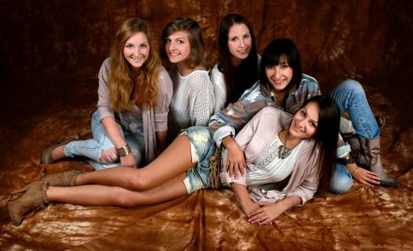 Freundinnen Fotoshooting Gruppenfotos im Fotostudio Wagner München