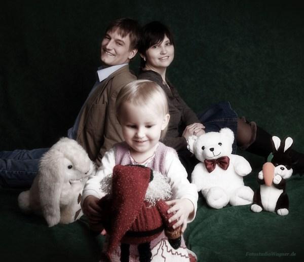 Familienfotos mit Kind im Photostudio Wagner in München