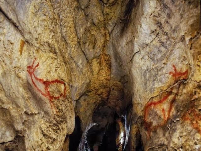 Interior cueva de Covalanas