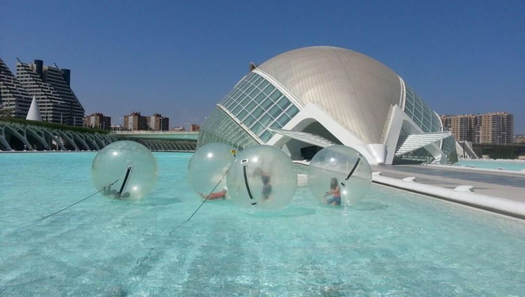 Water balls en Valencia