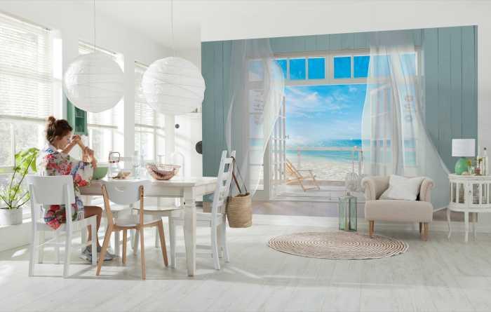 Fenster Fototapeten mit Ausblick 3D Tapeten mit Aussicht