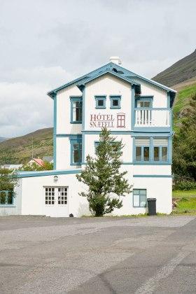 ein typisches Gästehaus auf Island
