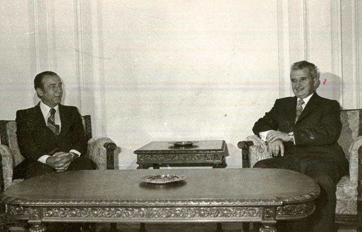 Primirea, de către Nicolae Ceauşescu, secretar general al P.C.R., a lui Haralambos Drakopoulos, secretar al C.C. al P.C. din Grecia (interior), care s-a aflat la odihnă în ţara noastră. La întrevedere a participat Vasile Muşat, secretar al C.C. al P.C.R.(31.VIII.1978)