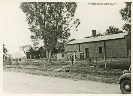 La Maruja, año 1935. Estación de Ferrocarril. Casa del jefe de estación.