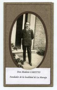 Modesto Caretto, fundador de La Maruja - La Pampa.
