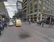 Avenida Jiménez con Carrera Séptima. Google Street View 2012