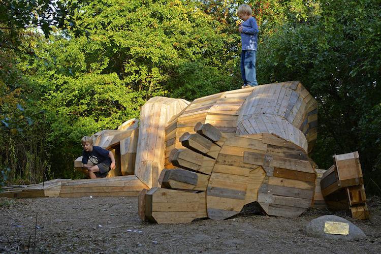 Деревянные скульптуры в Копенгагене