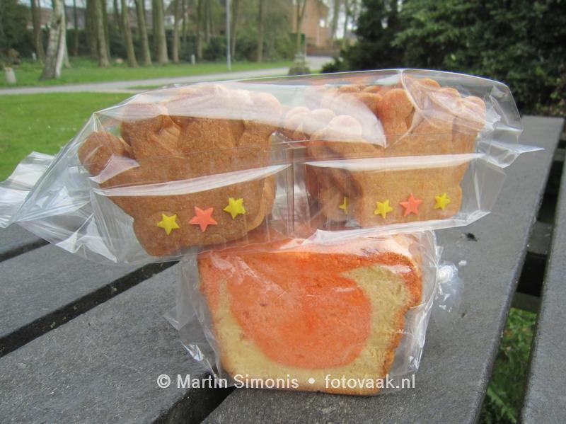 Kroon Koekjes en Oranje gemarmerde cake