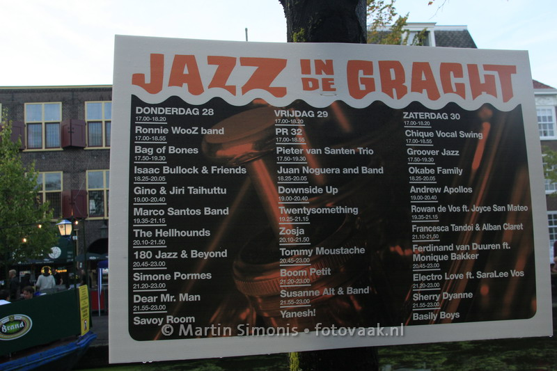 Jazz in de Gracht Programma