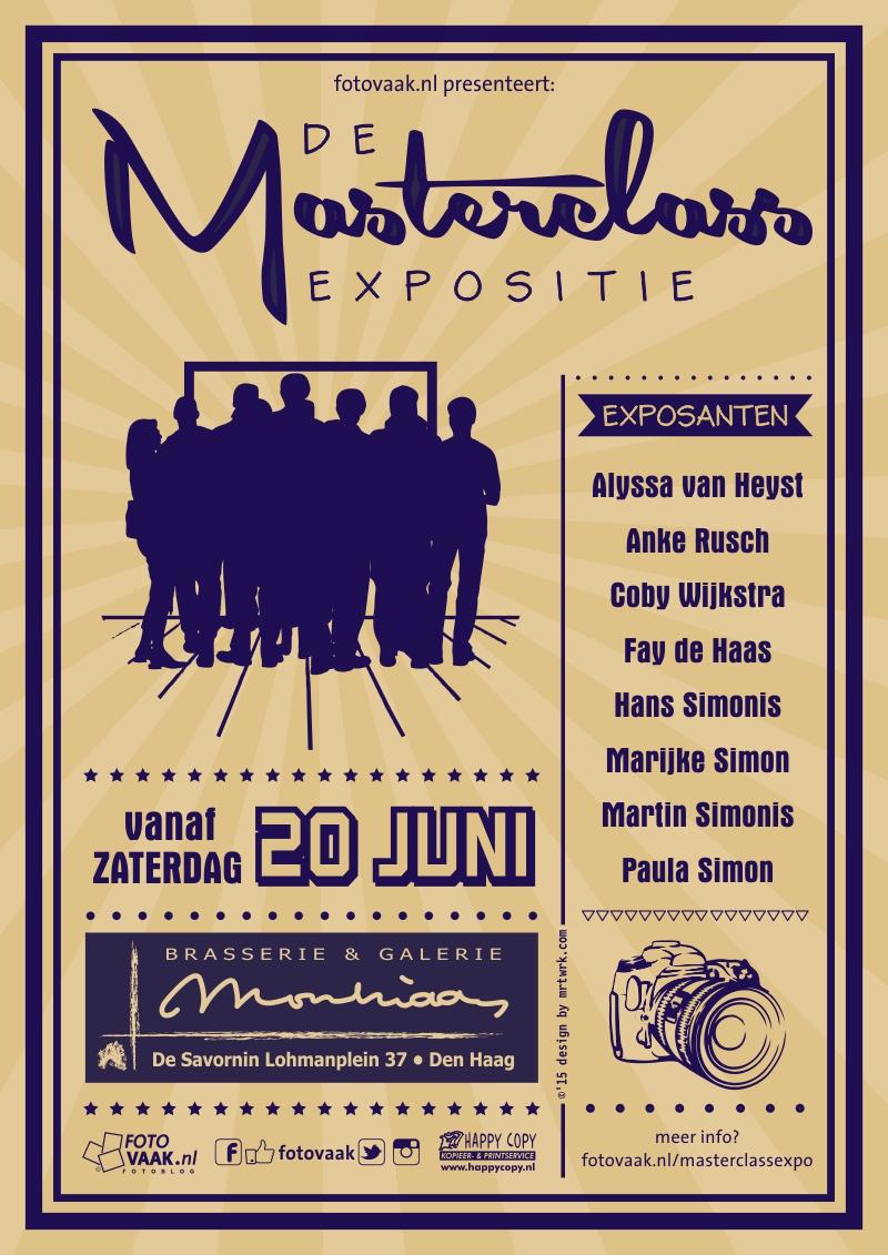 flyer Masterclass expositie defrgb