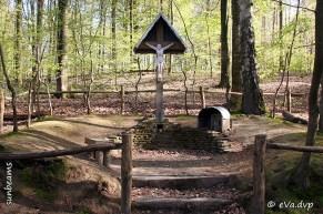 Dit herdenkingskruis werd opgericht in 1782 ter nagedachtenis van de hier vermoorde Livina Bruggelinck, een meisje uit de Bosstraat.