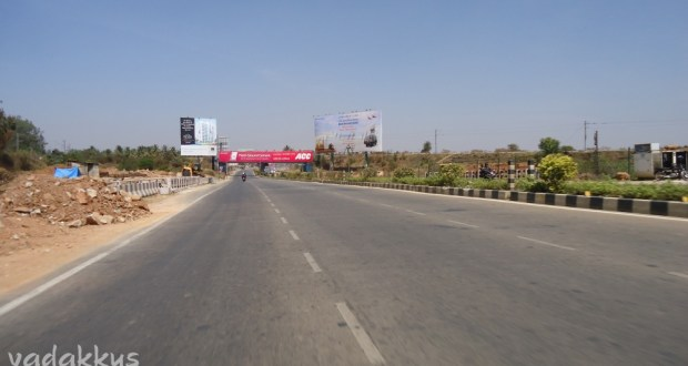 Bangalore New Airport Road near Yelahanka. Surprisingly empty