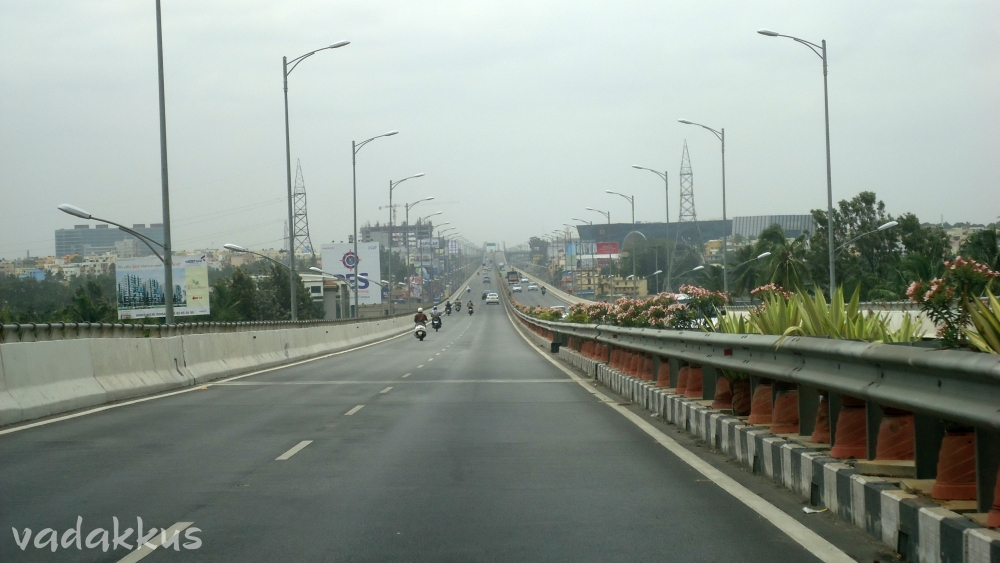 The Electronic City Elevated Expressway over Hosur Road in Bangalore