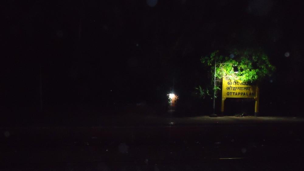 The station board at Ottapalam Railway Station, Kerala