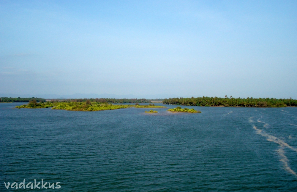 A shot of the Souparnika River, near Kundapura, Karnataka