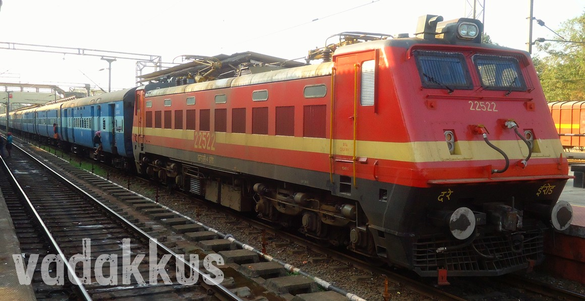Palindrome WAP4 22522 Electric Loco Indian Railways