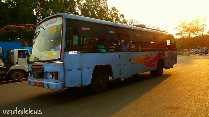 TNSTC Express to Salem in the Evening Sun