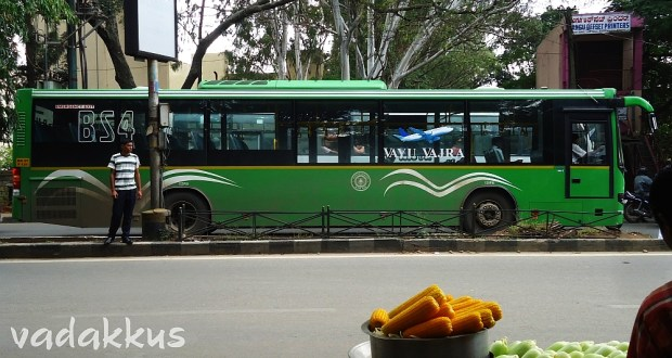 BMTC Green Volvo 8400 Vayu Vajra Bus Airport service running as BIA6