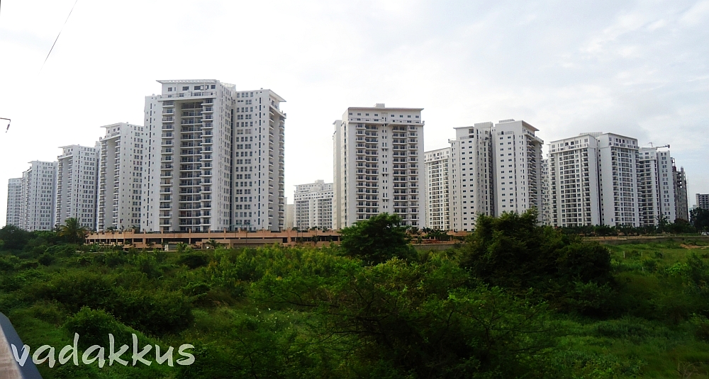 A small part of Prestige Shantiniketan, Whitefield. Part of Bangalore's Concrete Jungle