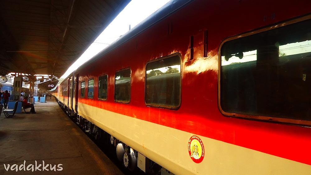 Alstom LHB Rakes of the Bangalore Rajdhani lying around idle
