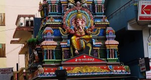 A Gopuram-Styled Ganapati Temple built in the Dravidian architectural style at Murugeshpalya Bangalore