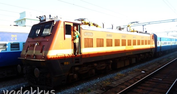 Picture of Indian Railways electric locomotive WAP4 #22624 at Ernakulam Junction