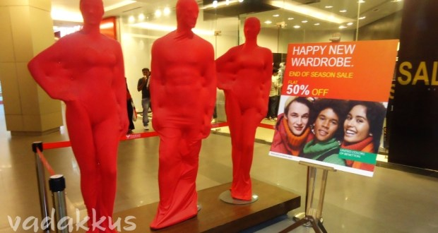 Picture of display Mannequins wrapped up