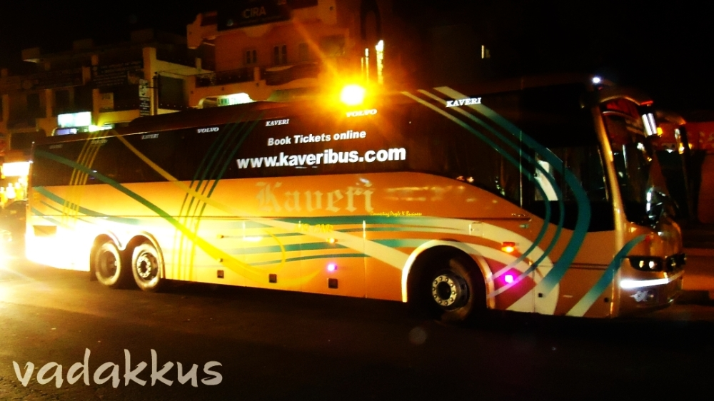 Picture of a Volvo B7R 9400 run by Kaveri Travels