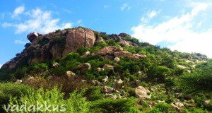 Rock formation making a hill near Patchur Vellore District Tamil Nadu