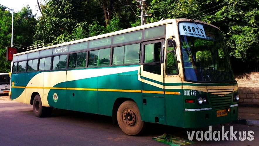 KSRTC Thrissur's Super Express RNC 776 at Madiwala