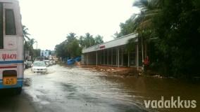 Broken and Flooded MC Road near Tiruvalla, Kerala