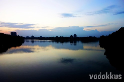 The Blue Periyar River at Aluva at Dusk