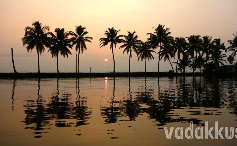 Golden Sunset at Kuttanad in Kerala