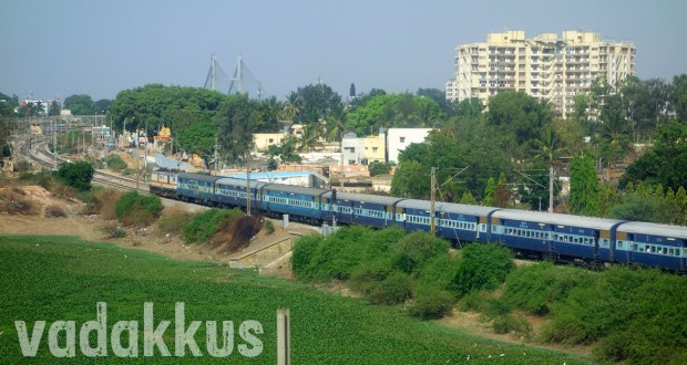 Long Photo of the Bangalore - Chennai Brindavan Express train