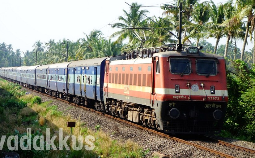 Full length picture of Alappuzha - Tata/Dhanbad Express in Kerala