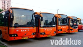 "Kochi's ""Team Oranje"" Volvo Low Floor Buses Stand in a Row!"