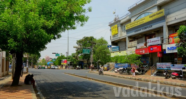 Photo of Udupi Garden Signal Junction, BTM Layout, Bangalore, without any traffic