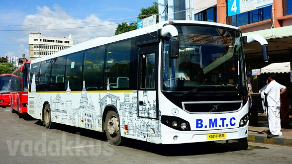 White Liveried and Decaled Bengaluru Rounds BMTC Volvo