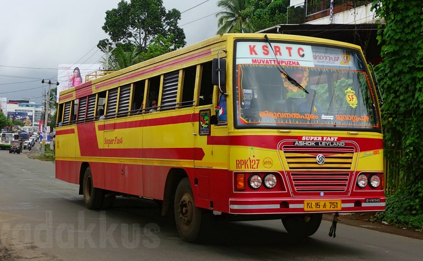 """Stickered Up"" KSRTC Super Fast RPK 127 of Muvattupuzha!"