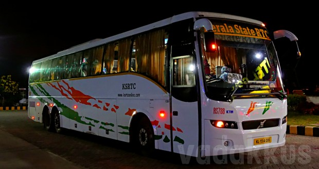 Kerala KSRTC's Volvo B9R Multi Axle bus RS788 owned by Kottayam deport running the Bangalore-Kottayam service
