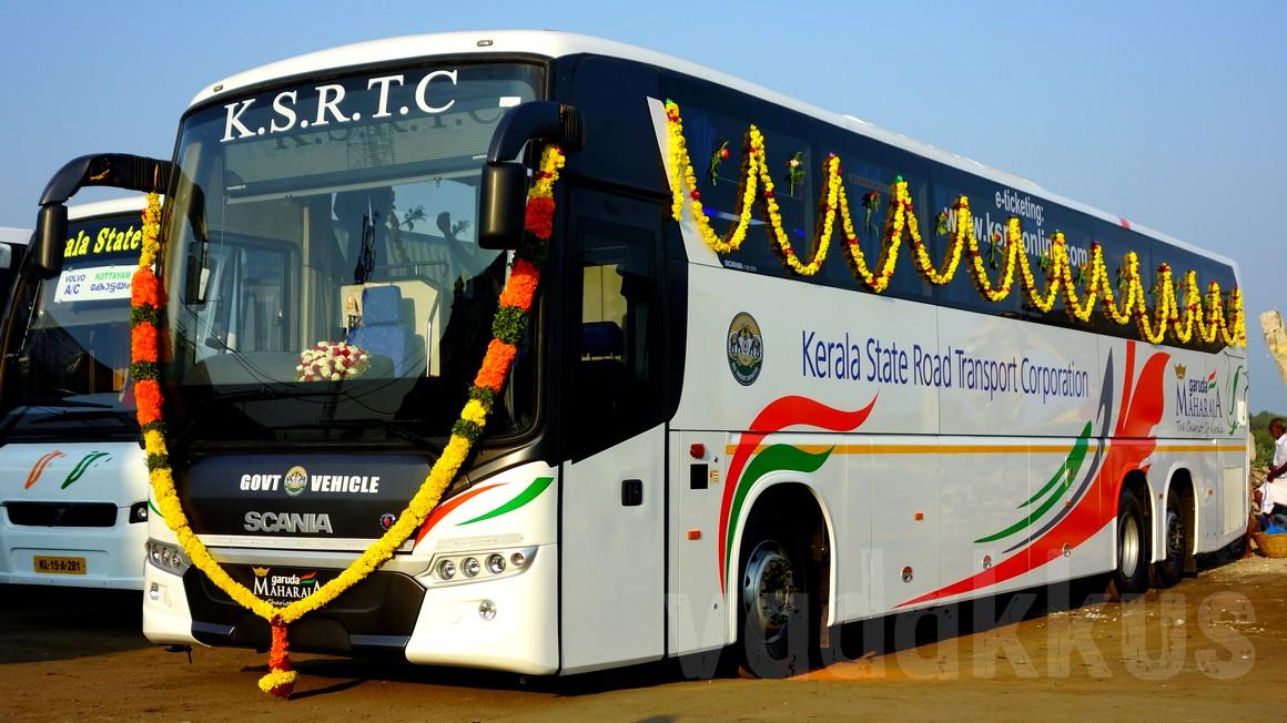 Kerala KSRTC new Scania Metrolink Multi-Axle (tri-axle) coach bus photo