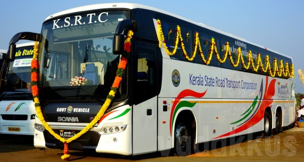 Kerala KSRTC new Scania Metrolink Multi-Axle (tri-axle) coach bus photo