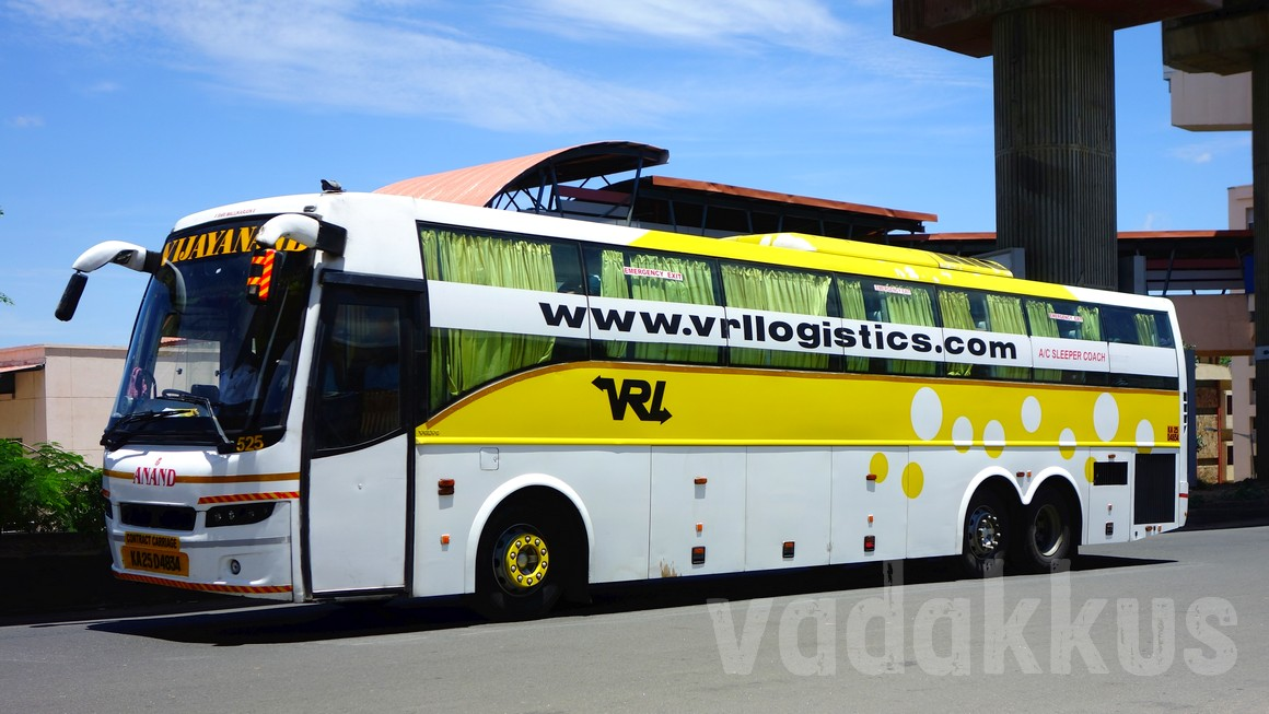 VRL (Vijayanand Travels) Volvo B9R Multi Axle (Sleeper) bus at Bangalore