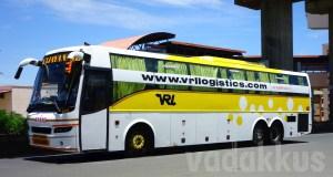 VRL (Vijayanand Travels) Volvo B9R Multi Axle (Sleeper) bus at Bangalore