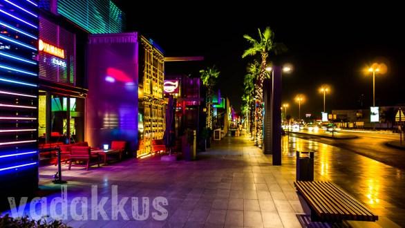 """A View of Dubai's """"Box Park"""" at Night!"""