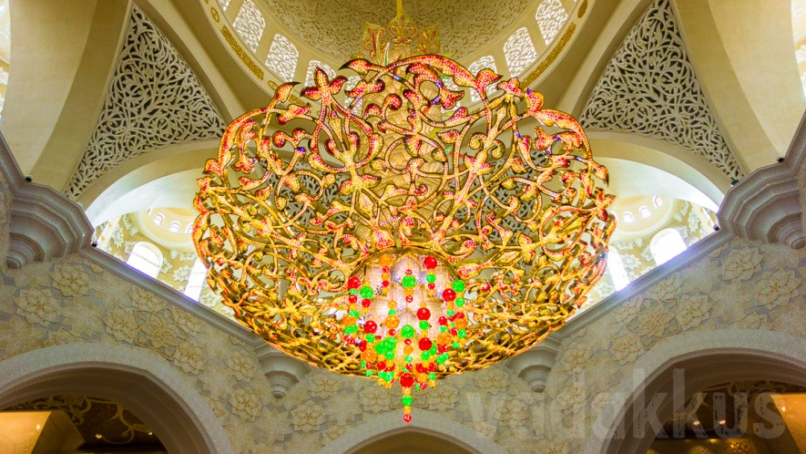 A Chandelier at the Sheikh Zayed Grand Mosque, Abu Dhabi