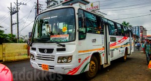 Kondody Autocraft new AIS-502 complaint bus model for Kondody Motors at Kottayam