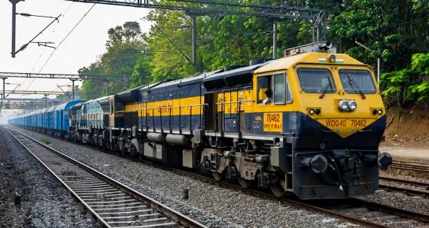 Diesel feight train WDG4D WDG4 locomotives kerala india