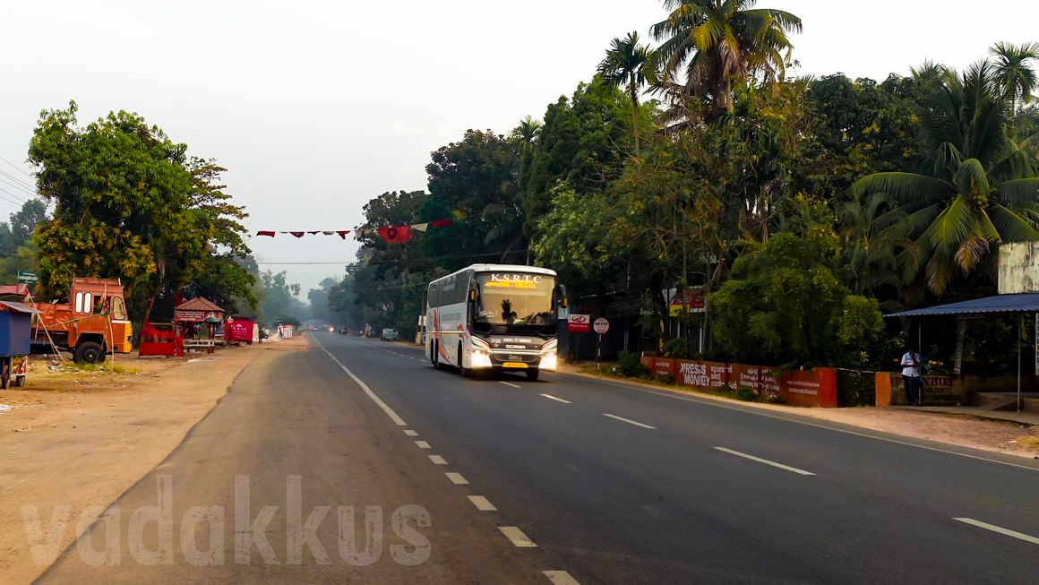 Kerala KSRTC Scania RP655 on an Empty Highway