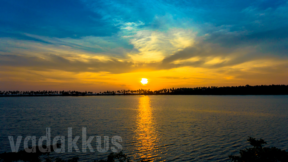 A Mesmerising Sunset Over the Edava Nadayara Lake, Kerala